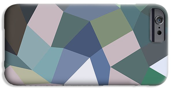 Mosaic iPhone Cases - Light Pastel Purple Abstract Low Polygon Background iPhone Case by Aloysius Patrimonio