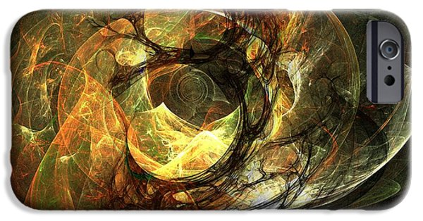 Fractal Orbs iPhone Cases - LIghted Orbs iPhone Case by Ron Bissett