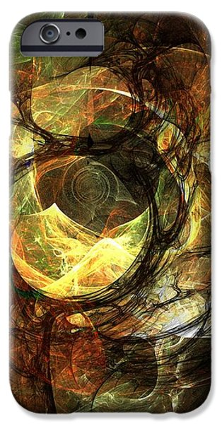 LIghted Orbs iPhone Case by Ron Bissett