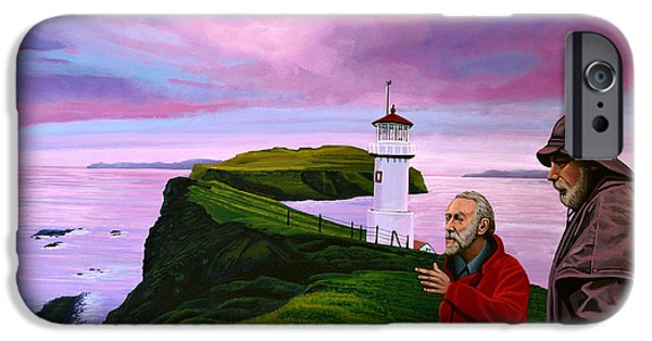 Denmark iPhone Cases - Lighthouse at Mykines Faroe Islands iPhone Case by Paul Meijering