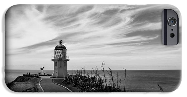 Lighthouse Pyrography iPhone Cases - Lighthouse at the cape Renga iPhone Case by Peteris Vaivars