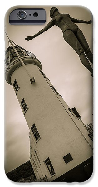 Statue Portrait iPhone Cases - Lighthouse Belle iPhone Case by Andy Mayes