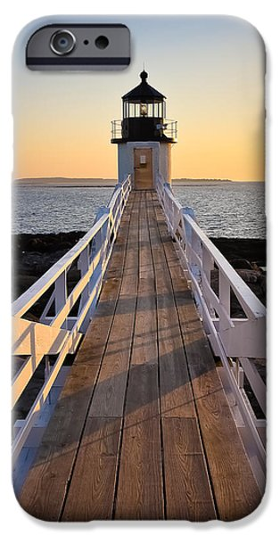 Lighthouse Boardwalk iPhone Case by Benjamin Williamson