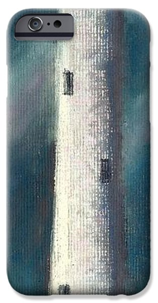 Lighthouse Pastels iPhone Cases - Lighthouse in a Storn iPhone Case by Jay Johnston