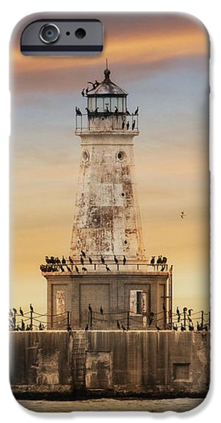 Lighthouse Mixed Media iPhone Cases - Lighthouse Keepers iPhone Case by Lori Deiter