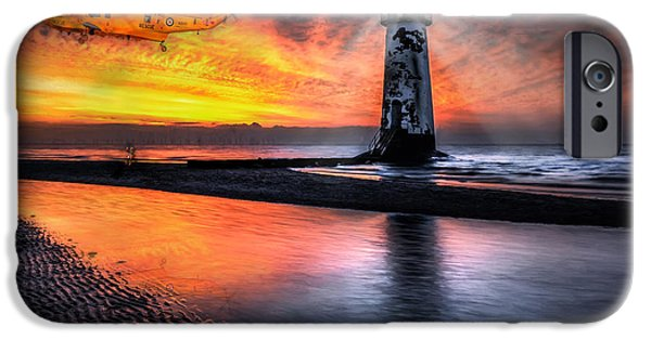 Lighthouse iPhone Cases - Lighthouse Rescue iPhone Case by Adrian Evans