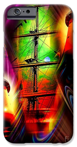 Business Paintings iPhone Cases - Lighthouse romance 2 iPhone Case by Walter Zettl