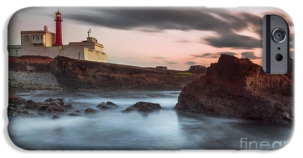 Ocean Sunset iPhone Cases - Lighthouse sunset iPhone Case by Henrique Silva