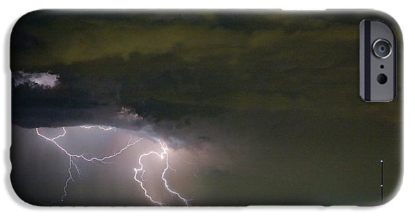 Lightning Images iPhone Cases - Lightning Man in the Clouds iPhone Case by James BO  Insogna