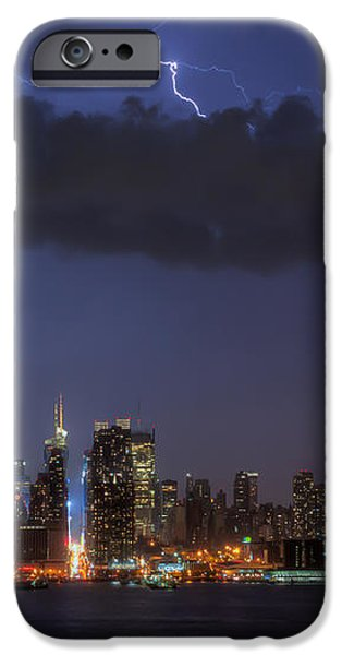 Lightning Over New York City I iPhone Case by Clarence Holmes