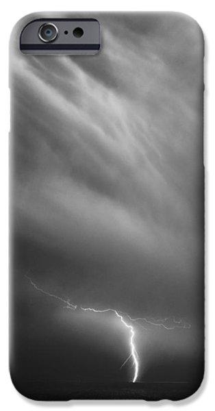 Nebraska iPhone Cases - Lightning stirke iPhone Case by Ian Carruthers