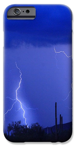 Lightning Storm in the Desert Fine Art Photography Print iPhone Case by James BO  Insogna