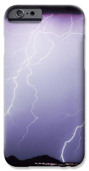 Lightning Storm North Scottsdale AZ 85255 iPhone Case by James BO  Insogna