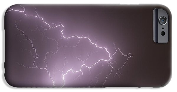 Electrical iPhone Cases - Lightning Strikes iPhone Case by Becca Buecher