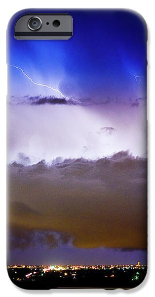 Lightning Thunder Head Cloud Burst Boulder County Colorado IM39 iPhone Case by James BO  Insogna