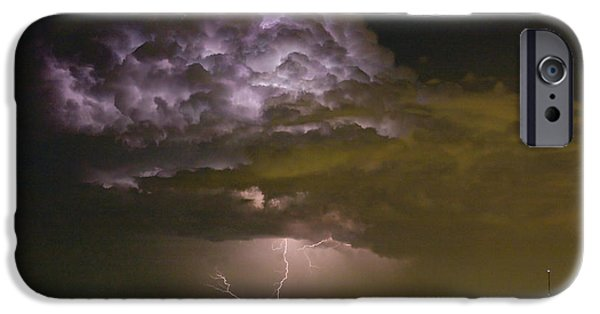 Lightning Images iPhone Cases - Lightning Thunderstorm with a Hook iPhone Case by James BO  Insogna
