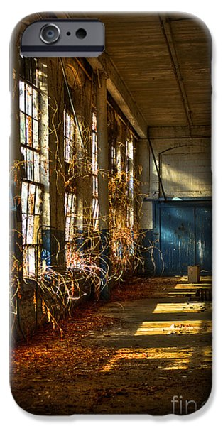 Glass Wall iPhone Cases - Lightroom too Mary Leila Cotton Mill 1899 iPhone Case by Reid Callaway