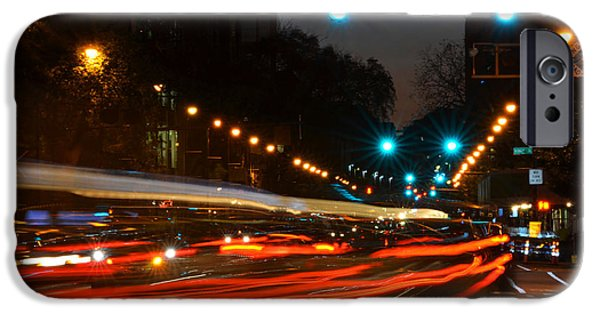 City. Boston iPhone Cases - Lights of the City iPhone Case by Toby McGuire