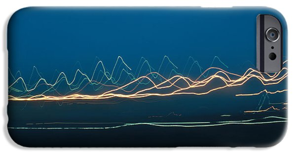Abstract Digital Photographs iPhone Cases - Lightscape A iPhone Case by Sarah Crossley