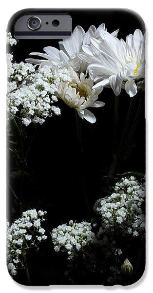 Botanical Photographs iPhone Cases - Like Snow on a Mountain Side iPhone Case by Joe Kozlowski