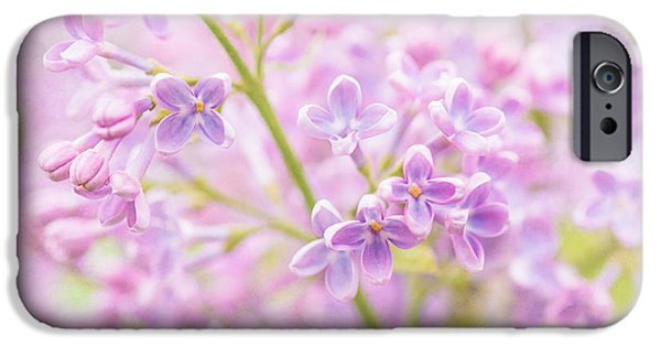 Mist iPhone Cases - Lilac Flowers Mist iPhone Case by Alexander Senin
