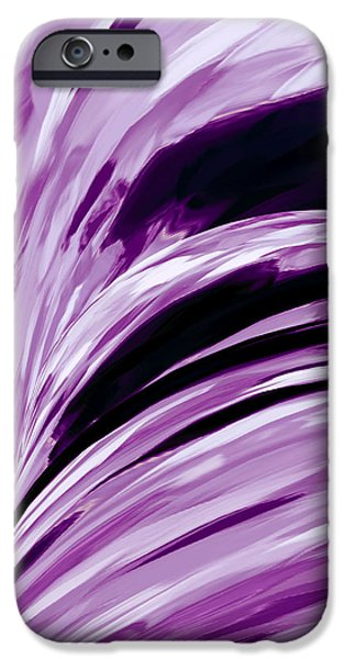 Abstract Digital Tapestries - Textiles iPhone Cases - Lilacs iPhone Case by Suzi Freeman