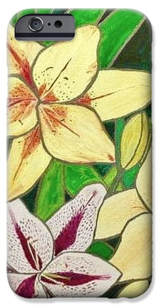 Plant Glass iPhone Cases - Lilies  iPhone Case by Sascha Phillips