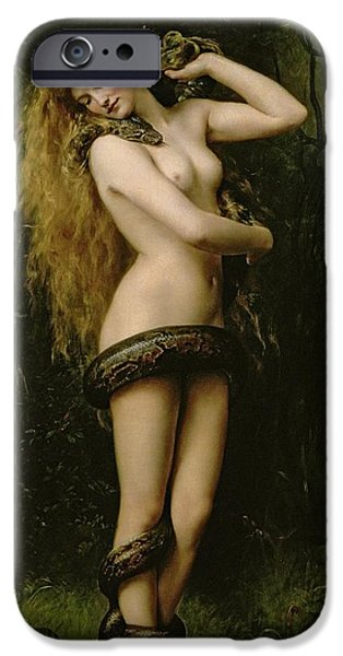 Pre-raphaelites iPhone Cases - Lilith iPhone Case by John Collier