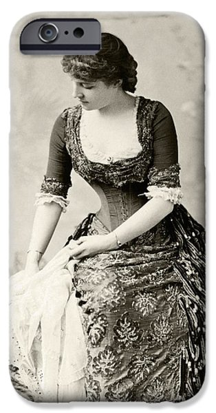 Charlotte Drawings iPhone Cases - Lillie Langtry 1853 To 1929 Born Emilie iPhone Case by Vintage Design Pics