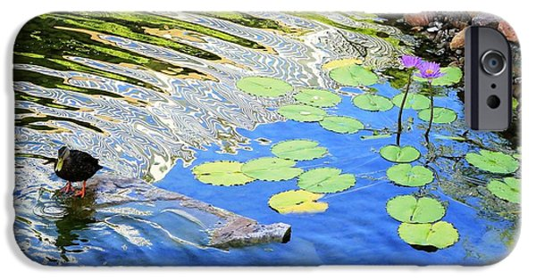 Nature Center Pond iPhone Cases - Lilly iPhone Case by Ruby McCoy