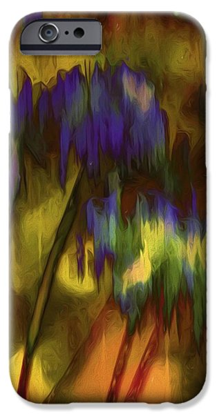 Nature Abstract iPhone Cases - Lily Abstract iPhone Case by Karen Jensen