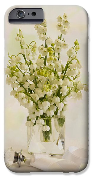 Flower Of Life iPhone Cases - Lily Of The Valley Perfume iPhone Case by Sandra Foster