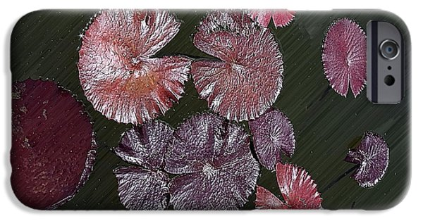 Abstract Digital Photographs iPhone Cases - Lily Pads in the Pond iPhone Case by Gary Richards