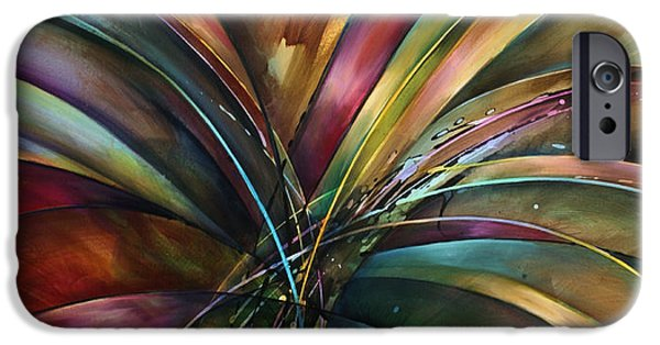 Recently Sold -  - Abstract Expressionism iPhone Cases - Lilys Song iPhone Case by Michael Lang
