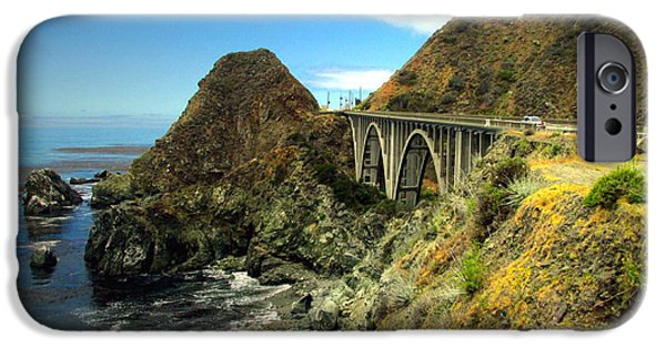 Business Photographs iPhone Cases - Lime Creek Bridge Highway 1 Big Sur CA Three iPhone Case by Joyce Dickens