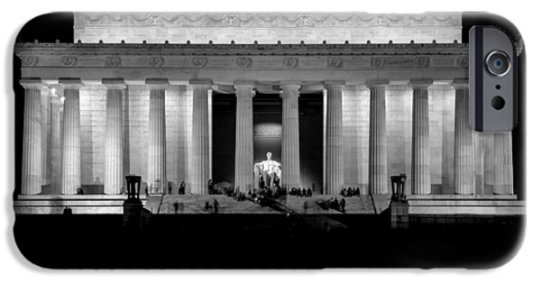 4th July Photographs iPhone Cases - Lincoln at Night iPhone Case by Neptune