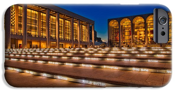 Lincoln iPhone Cases - Lincoln Center at Twilight iPhone Case by Susan Candelario