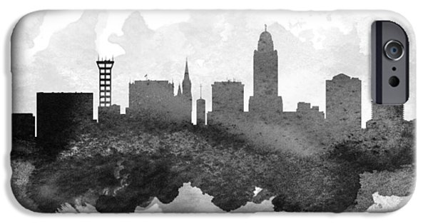 Lincoln iPhone Cases - Lincoln Cityscape 11 iPhone Case by Aged Pixel