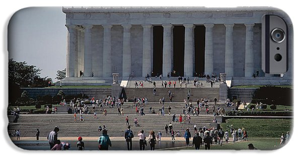 Lincoln iPhone Cases - Lincoln Memorial 5 iPhone Case by Carl Purcell