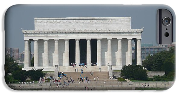 Lincoln iPhone Cases - Lincoln Memorial iPhone Case by Anita Goel