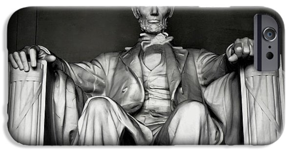 Lincoln iPhone Cases - Lincoln Memorial iPhone Case by Daniel Hagerman