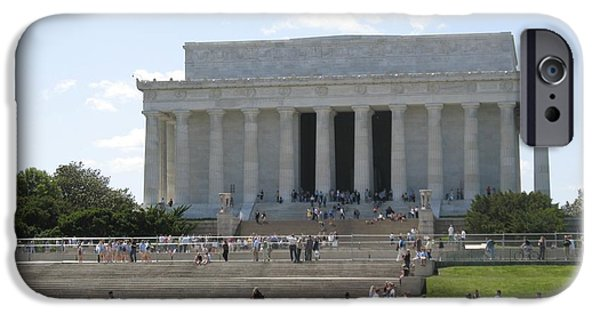 Lincoln iPhone Cases - Lincoln Memorial  iPhone Case by Diane Leone
