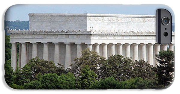 Cora Wandel iPhone Cases - Lincoln Memorial Panorama iPhone Case by Cora Wandel