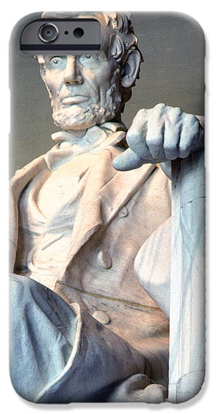 Lincoln iPhone Cases - Lincoln Memorial iPhone Case by Thomas R Fletcher