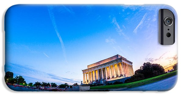 President iPhone Cases - Lincoln Memorial Twilight iPhone Case by Chris Bordeleau