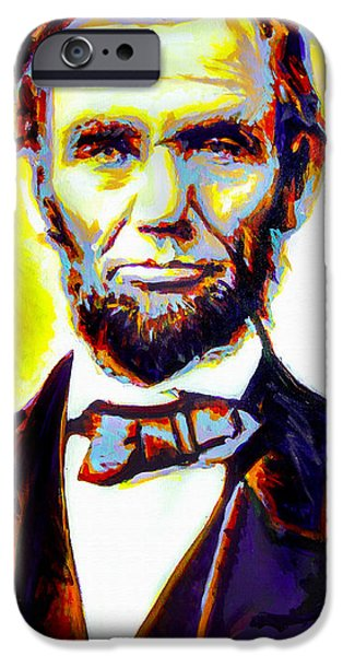 Abolition Paintings iPhone Cases - Lincoln iPhone Case by Steve Gamba