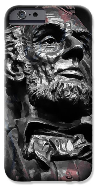 Recently Sold -  - Politician iPhone Cases - Lincoln Stoic iPhone Case by Daniel Hagerman