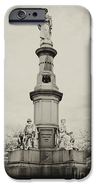 Infrared iPhone Cases - Lincolns Gettysburg Address Site - toned iPhone Case by Paul W Faust -  Impressions of Light