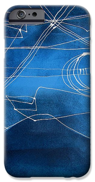 Business Paintings iPhone Cases - Lines Lines Eight iPhone Case by Louise Adams