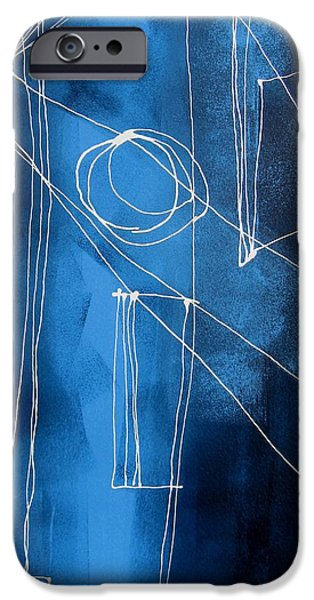 Business Paintings iPhone Cases - Lines Lines Nine iPhone Case by Louise Adams